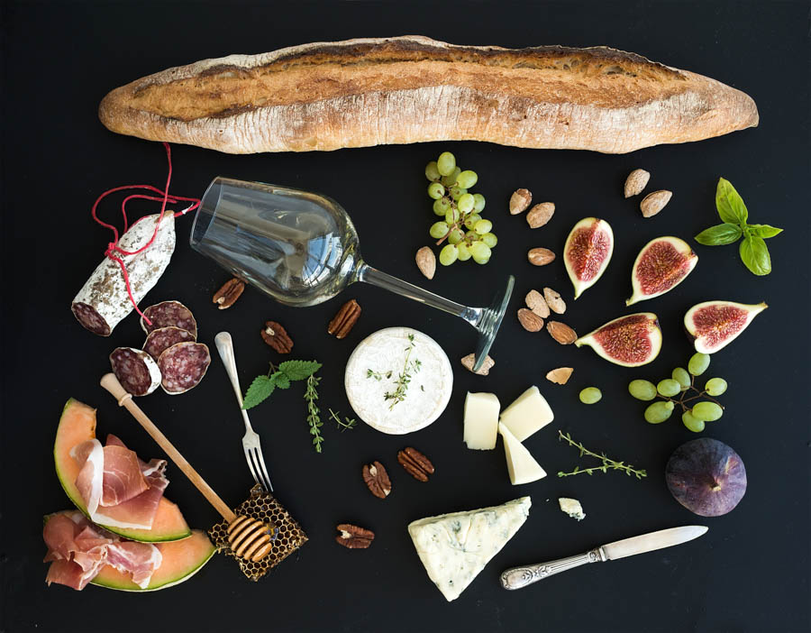 Baguette and french food