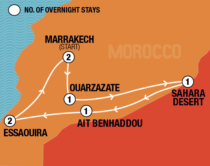 Marrakech, Sahara & Beach
