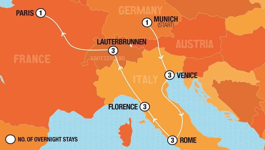 Bratwurst to Burlesque - Munich to Paris
